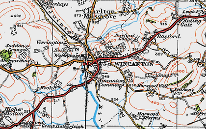 Old map of Wincanton in 1919