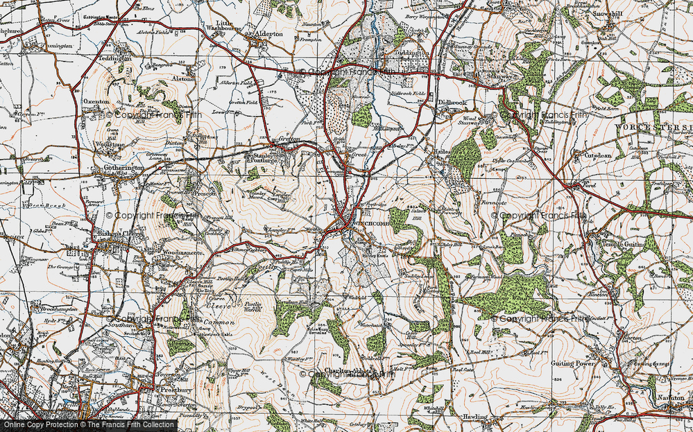 Old Map of Winchcombe, 1919 in 1919