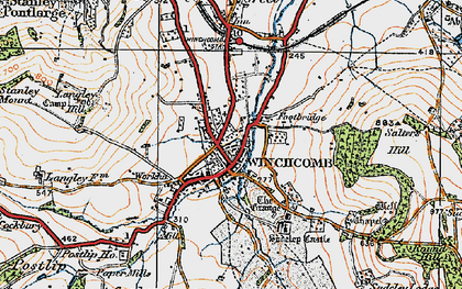 Old map of Winchcombe in 1919