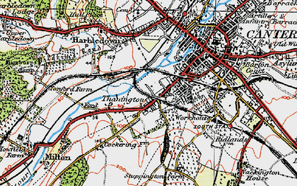 Old map of Wincheap in 1920