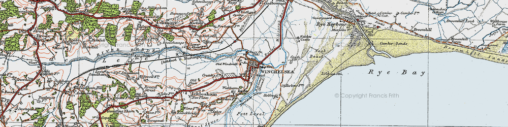 Old map of Wickham Manor in 1921