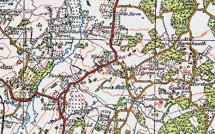 Old map of Winchet Hill in 1921