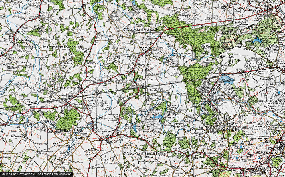 Old Map of Winchfield, 1919 in 1919