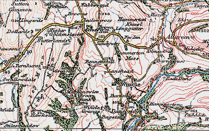 Old map of Wincle in 1923