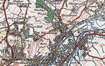 Old map of Wincobank in 1923