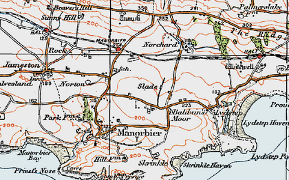 Old map of Wind Hill in 1922