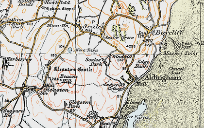 Old map of Wind Hill in 1924