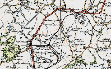 Old map of Winder Brow in 1925