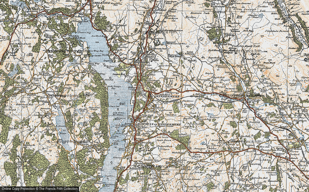Old Map of Windermere, 1925 in 1925