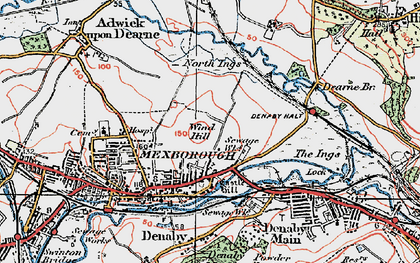 Old map of Windhill in 1924