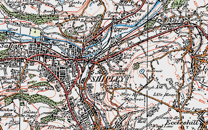 Old map of Windhill in 1925