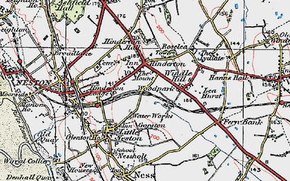 Old map of Windle Hill in 1924