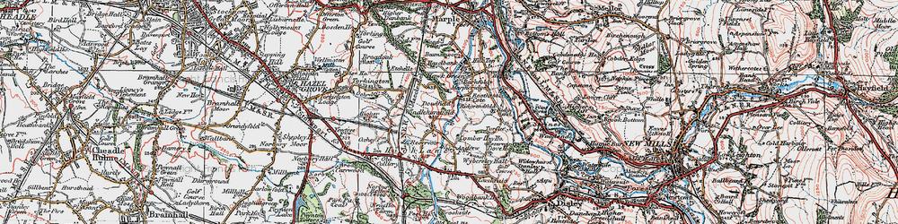 Old map of Windlehurst in 1923