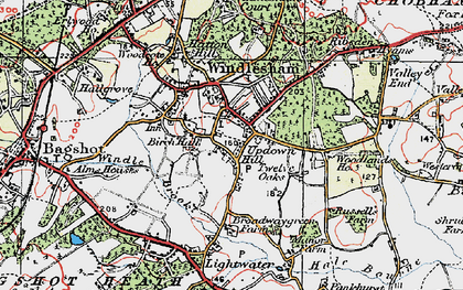 Old map of Windlesham Park in 1920