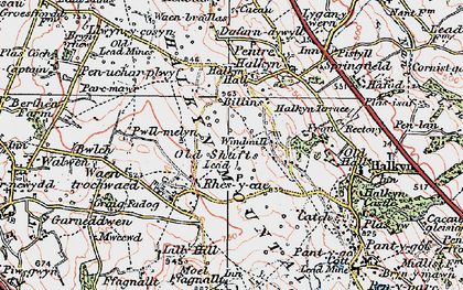 Old map of Windmill in 1924