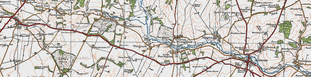 Old map of Windrush Camp in 1919