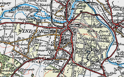 Old map of Windsor in 1920