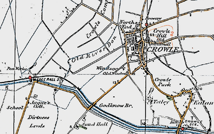 Old map of Windsor in 1923