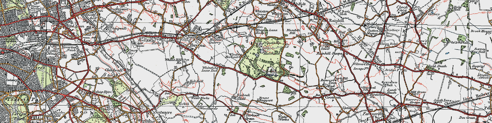 Old map of Windy Arbor in 1923