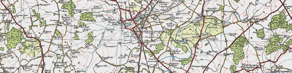 Old map of Windy Arbour in 1919