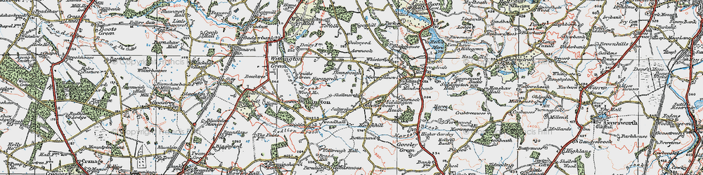 Old map of Windyharbour in 1923