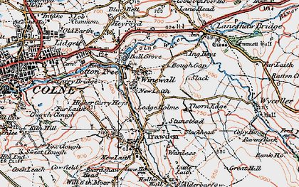 Old map of Winewall in 1925