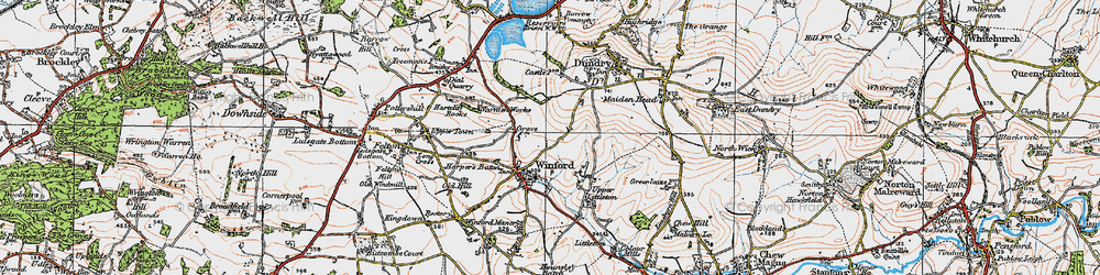 Old map of Winford in 1919