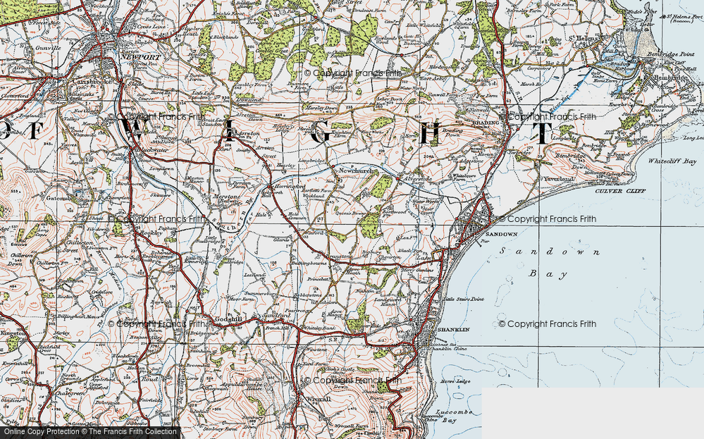 Old Map of Winford, 1919 in 1919