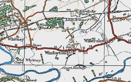 Old map of Winforton in 1919