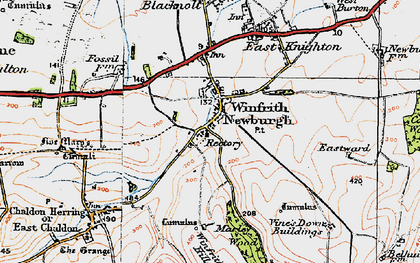 Old map of Winfrith Newburgh in 1919