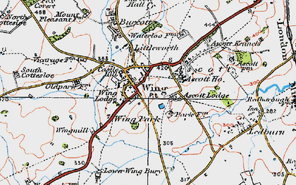Old map of Ascott Ho in 1919