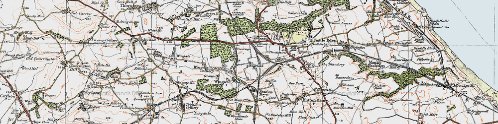 Old map of Wingate in 1925