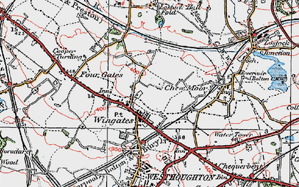 Old map of Wingates in 1924