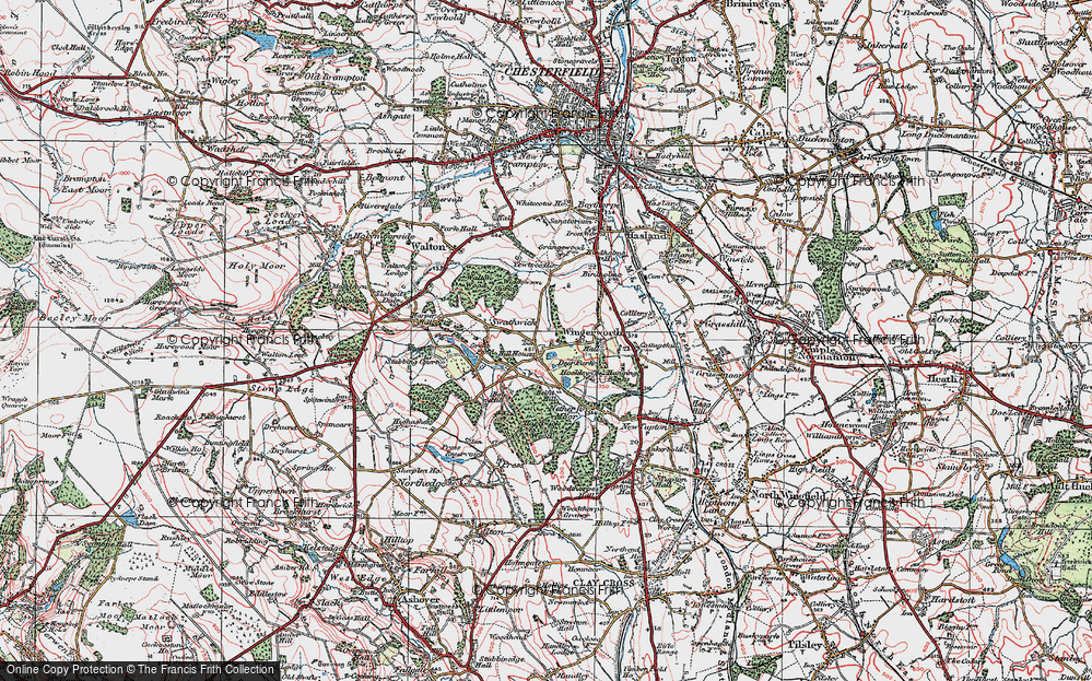Old Map of Wingerworth, 1923 in 1923