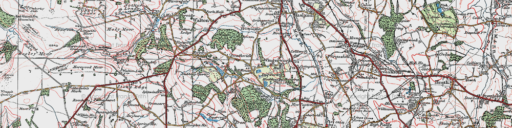 Old map of Wingerworth in 1923