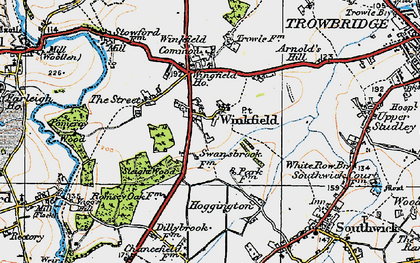 Old map of Wingfield in 1919