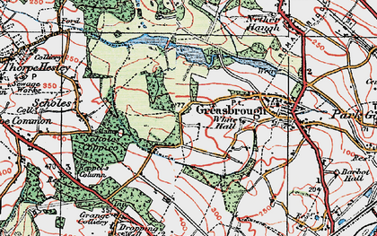 Old map of Wingfield in 1924