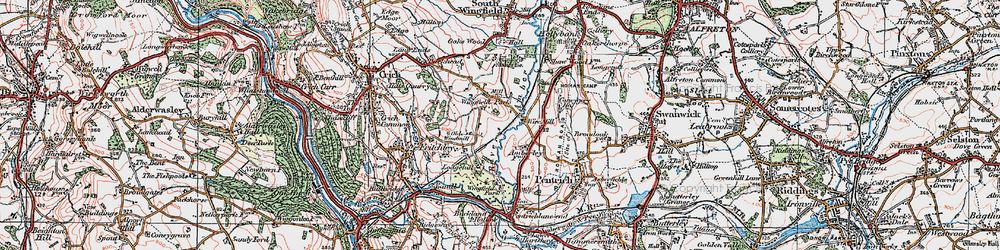 Old map of Wingfield Park in 1921