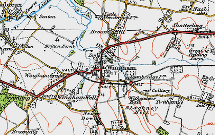 Old map of Witherdens Hall in 1920