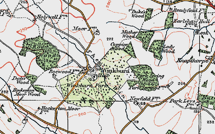 Old map of Wink, The in 1923