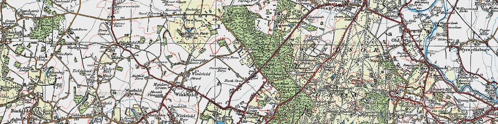 Old map of Winkfield Place in 1920