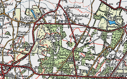 Old map of Whitegrove in 1919