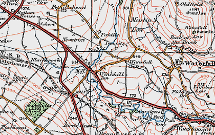 Old map of Winkhill in 1921
