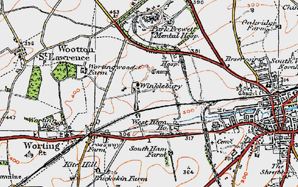 Old map of Winklebury in 1919