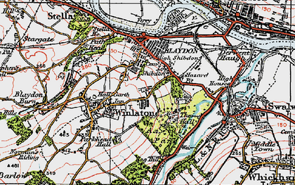 Old map of Winlaton in 1925