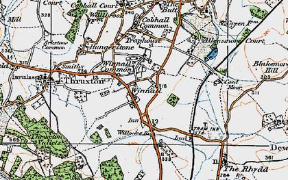 Old map of Winnal in 1920