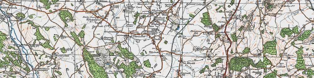 Old map of Winnal Common in 1920