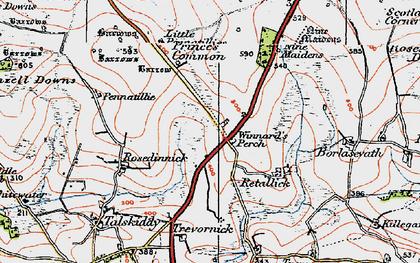 Old map of Winnard's Perch in 1919