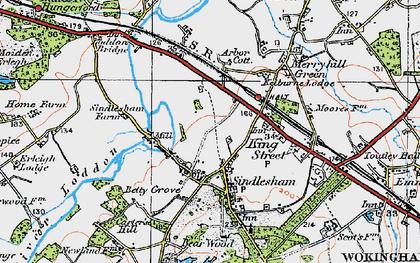 Old map of Winnersh in 1919