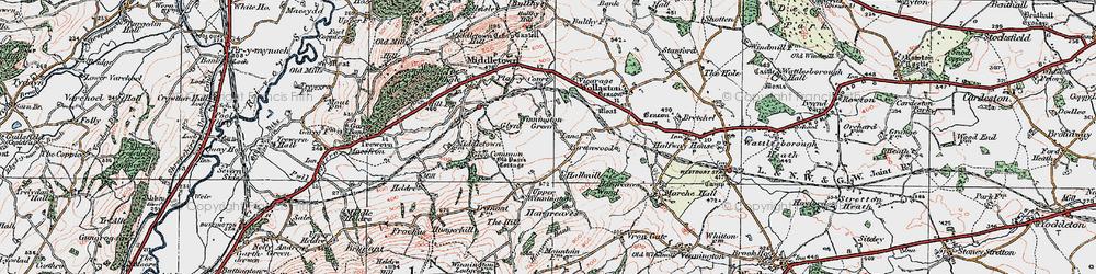 Old map of Winnington Green in 1921